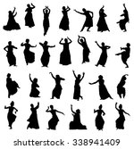 Isolated Silhouettes Of Indian...