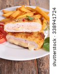 Small photo of cordon bleu with french fries