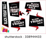black friday sale tag or... | Shutterstock .eps vector #338944433