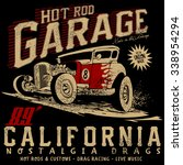hot rod garage california... | Shutterstock .eps vector #338954294