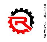 motor racing star  r initial... | Shutterstock .eps vector #338961008