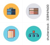 business  flat icons 4 color... | Shutterstock .eps vector #338969600
