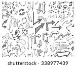 hand drawn seamless doodle... | Shutterstock .eps vector #338977439
