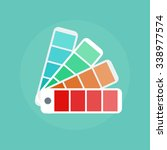 color swatch concept icons in... | Shutterstock .eps vector #338977574