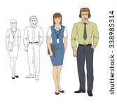 set characters of aviation... | Shutterstock .eps vector #338985314