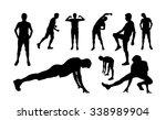 Man Sports Exercising...