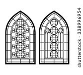 gothic windows. vintage frames. ... | Shutterstock .eps vector #338996954