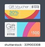 gift voucher template. | Shutterstock .eps vector #339003308