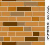 seamlessly vector brick wall | Shutterstock .eps vector #33900607