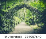 secret garden in vintage style | Shutterstock . vector #339007640