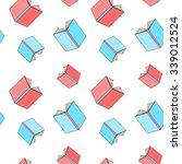 Books Pattern Seamless Colored...