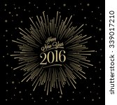 happy new year card with... | Shutterstock .eps vector #339017210