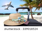 suitcase  vacations  luggage... | Shutterstock . vector #339018524
