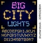 lighting signs alphabet  letter ... | Shutterstock .eps vector #339032804