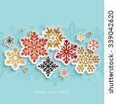 christmas abstract background... | Shutterstock .eps vector #339042620