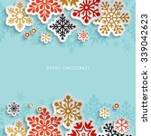 winter holiday abstract... | Shutterstock .eps vector #339042623