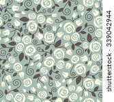 seamless floral pattern with...   Shutterstock .eps vector #339042944