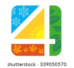 4 seasons logo icon vector | Shutterstock .eps vector #339050570