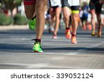 marathon runners   Shutterstock . vector #339052124