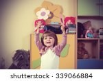 child in the nursery playing... | Shutterstock . vector #339066884