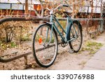 Parked Vintage Old Bicycle Bik...