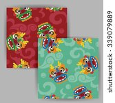 vector cartoon chinese dragon... | Shutterstock .eps vector #339079889