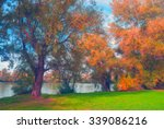 landscape painting showing... | Shutterstock . vector #339086216
