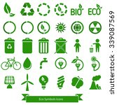 ecology icons vector. | Shutterstock .eps vector #339087569