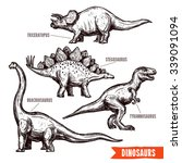 Prehistoric Dinosaurs 4 Divers...
