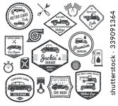 retro car labels and stickers... | Shutterstock .eps vector #339091364