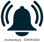 alarm bell sign  vector... | Shutterstock .eps vector #339092810