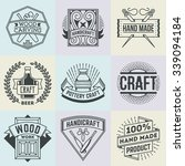 assorted hand craft insignias... | Shutterstock .eps vector #339094184