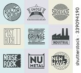 assorted rock music styles... | Shutterstock .eps vector #339094190
