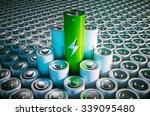 green battery concept | Shutterstock . vector #339095480
