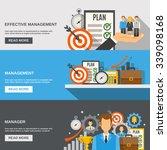 management horizontal banner... | Shutterstock .eps vector #339098168