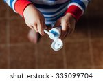 Boy Taking Toothpaste