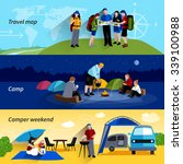 camper people horizontal... | Shutterstock .eps vector #339100988