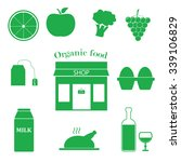store with organic products | Shutterstock .eps vector #339106829