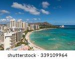 cityscape of honolulu city in a ... | Shutterstock . vector #339109964