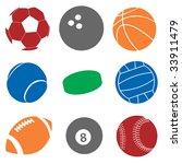 sport balls | Shutterstock .eps vector #33911479