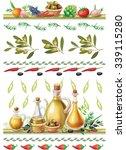 set of food borders | Shutterstock .eps vector #339115280