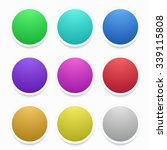 vector modern colorful circle... | Shutterstock .eps vector #339115808