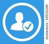 valid patient vector icon.... | Shutterstock .eps vector #339122180