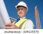 construction engineer in... | Shutterstock . vector #339125570