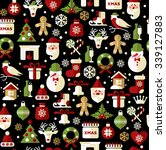 christmas seamless pattern of... | Shutterstock . vector #339127883