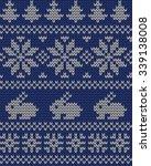 knitted winter seamless pattern | Shutterstock .eps vector #339138008