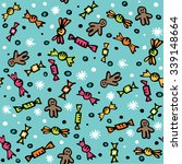 seamless pattern with colorful... | Shutterstock .eps vector #339148664
