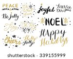 christmas hand drawn holiday...   Shutterstock .eps vector #339155999
