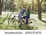 beautiful couple in love to... | Shutterstock . vector #339157670