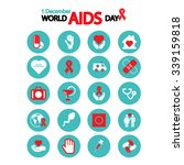 worlds aids day icons set | Shutterstock .eps vector #339159818
